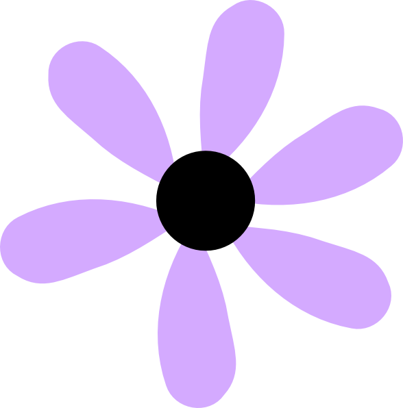 Flower clipart cute clip art black and white download Lilac Flower Clipart | Clipart Panda - Free Clipart Images clip art black and white download