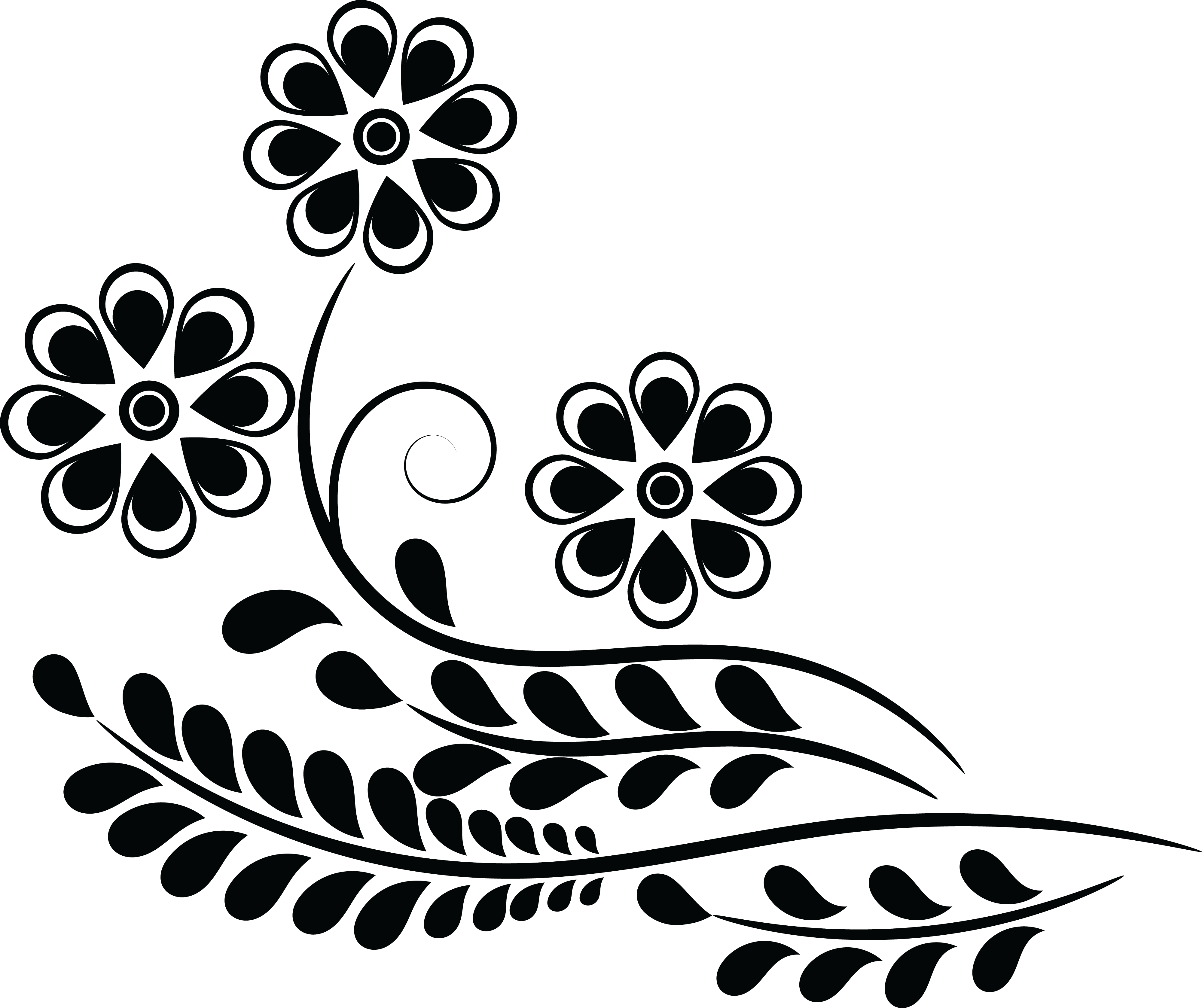 Flower clipart designs black and white download 28+ Collection of Design Clipart Png | High quality, free cliparts ... black and white download
