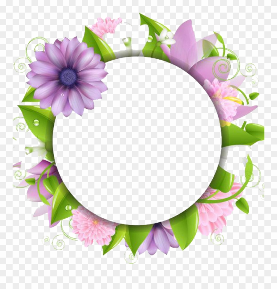 Flower clipart download. Border png flowers borders
