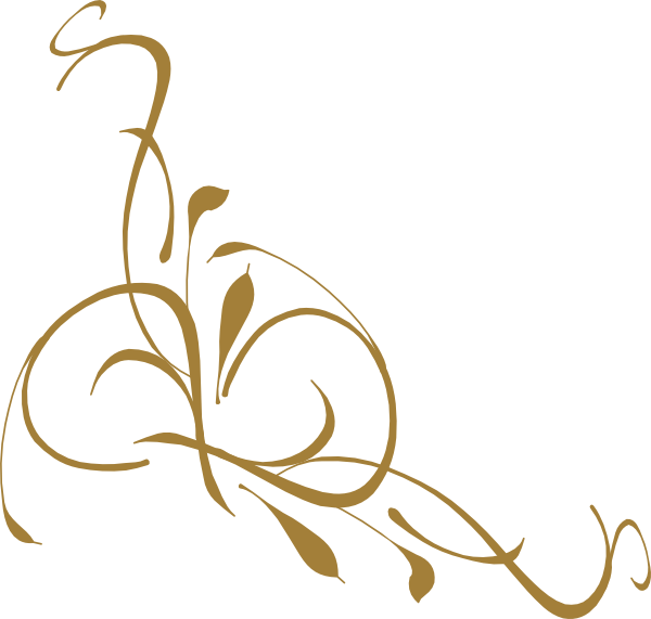 Flower clipart elegant. Gold swirl designs bd