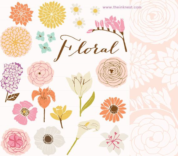 Flower clipart for photoshop png black and white download CLIP ART and Photoshop Brushes - Floral - for commercial and ... png black and white download