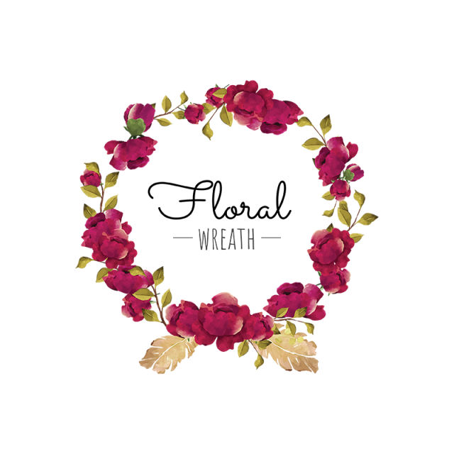 Spring flower wreath clipart graphic black and white flower, wreath, red, burgundy, blooming, beautiful, feather, frame ... graphic black and white