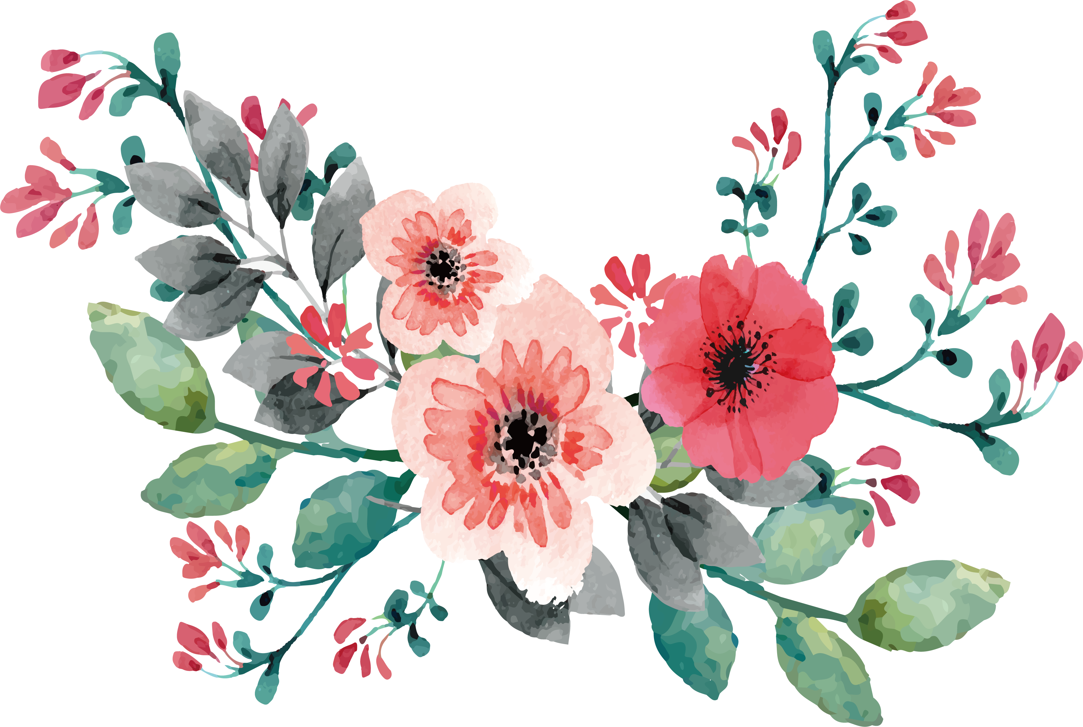Wedding flower bouquet clipart picture freeuse Wedding invitation Flower Watercolor painting Clip art - Pink ... picture freeuse