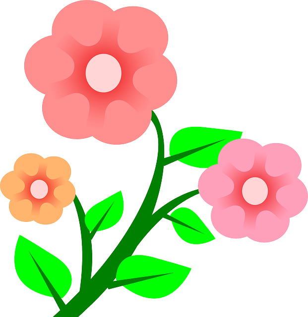 Growing flower clipart image freeuse stock Pretty Flower Cliparts Free Download Clip Art - carwad.net image freeuse stock