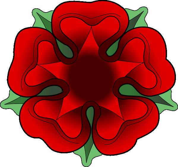Flower clipart gif banner black and white download Tudor Rose Clip Art at Clker.com - vector clip art online, royalty ... banner black and white download