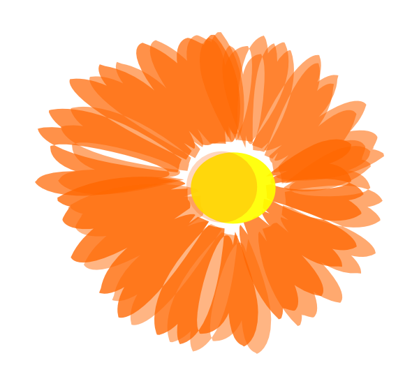 Orange flower border clipart picture royalty free Marigold Flower Clipart | Free download best Marigold Flower Clipart ... picture royalty free
