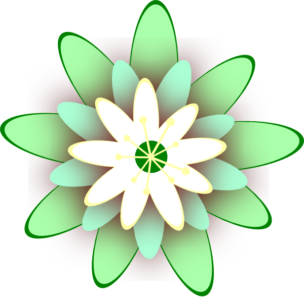 Flower clipart green vector freeuse download Green Flower Clip Art at Clker.com - vector clip art online, royalty ... vector freeuse download