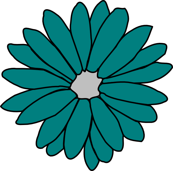 Flower clipart green graphic royalty free Green Flower Clip Art at Clker.com - vector clip art online, royalty ... graphic royalty free