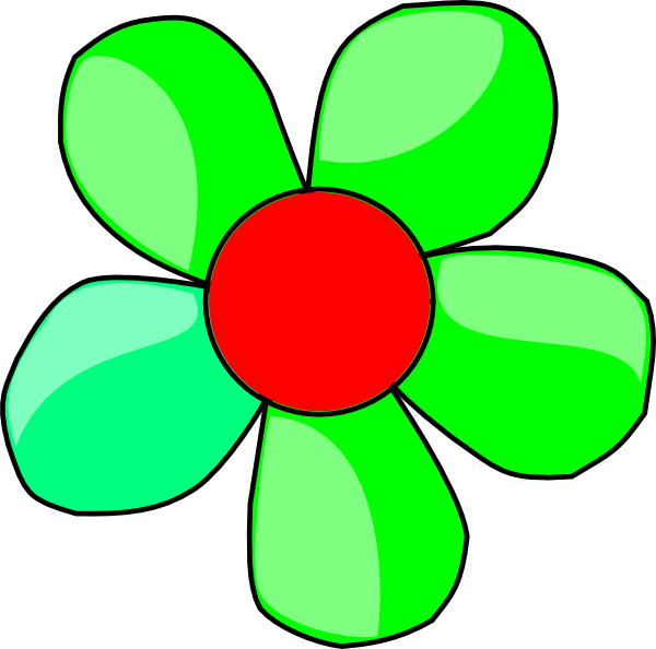 Flower clipart green vector transparent Green Flower Clip Art at Clker.com - vector clip art online, royalty ... vector transparent