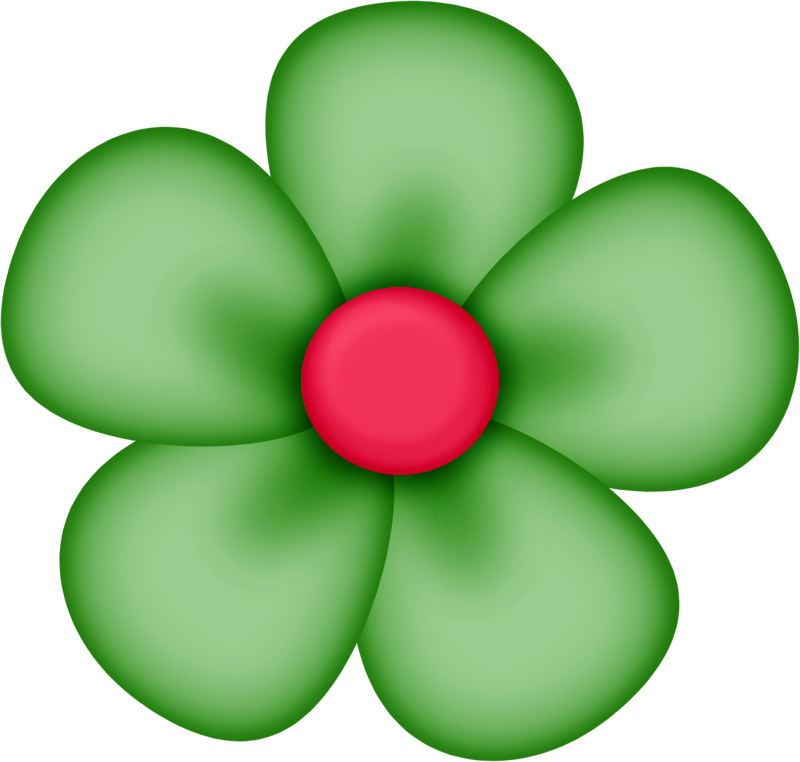 Green flower clipart picture transparent library Green Flower Clipart sd element 34 flowers scrapbooking and clip art ... picture transparent library