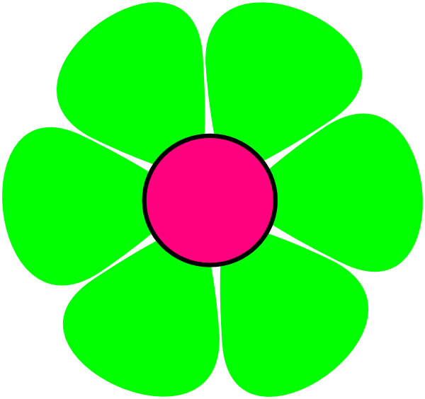 Flower clipart green vector transparent stock Green Flower Clip Art at Clker.com - vector clip art online, royalty ... vector transparent stock