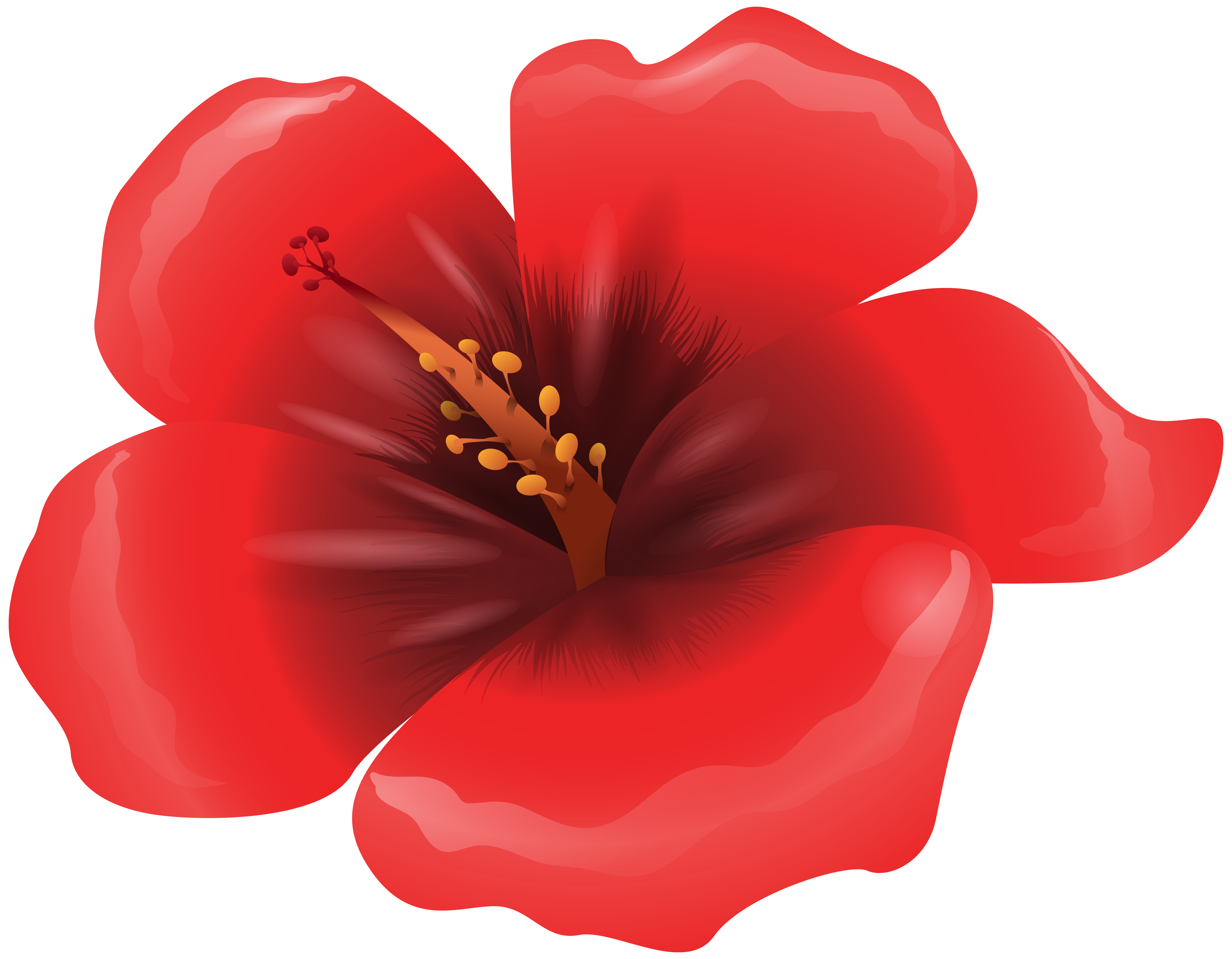 Flower clipart images png png black and white download Large Red Flower Clipart PNG Image png black and white download