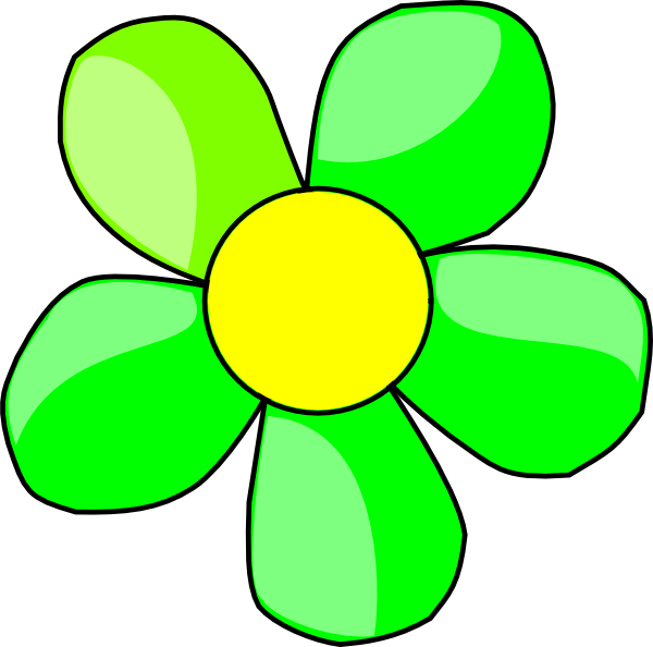 Lime green flower clipart