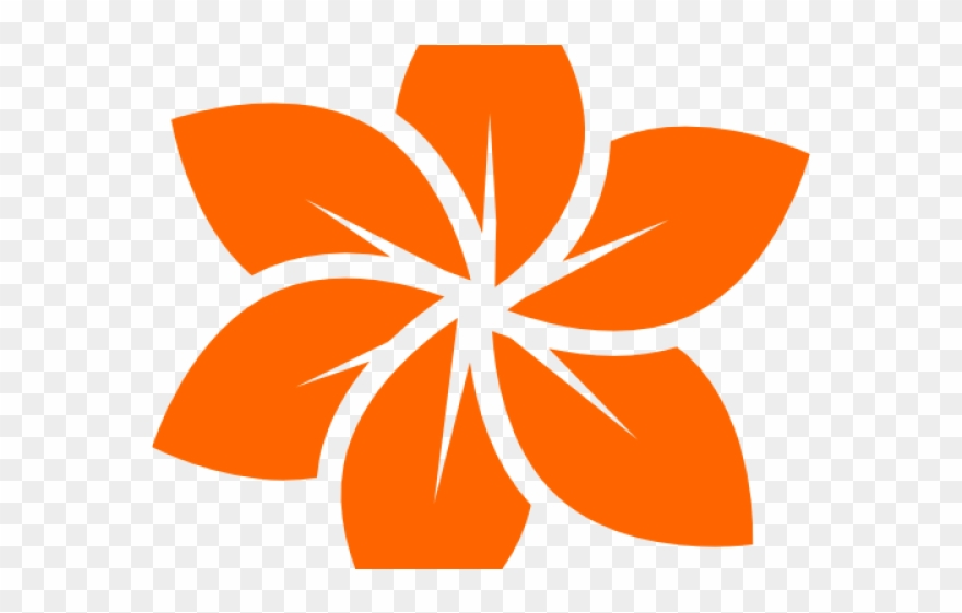 Flower clipart logo vector free library Orange Flower Clipart Cool - Black Flower Logo - Png Download ... vector free library