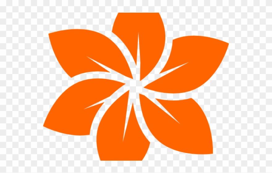 Flower clipart logo. Orange cool black png