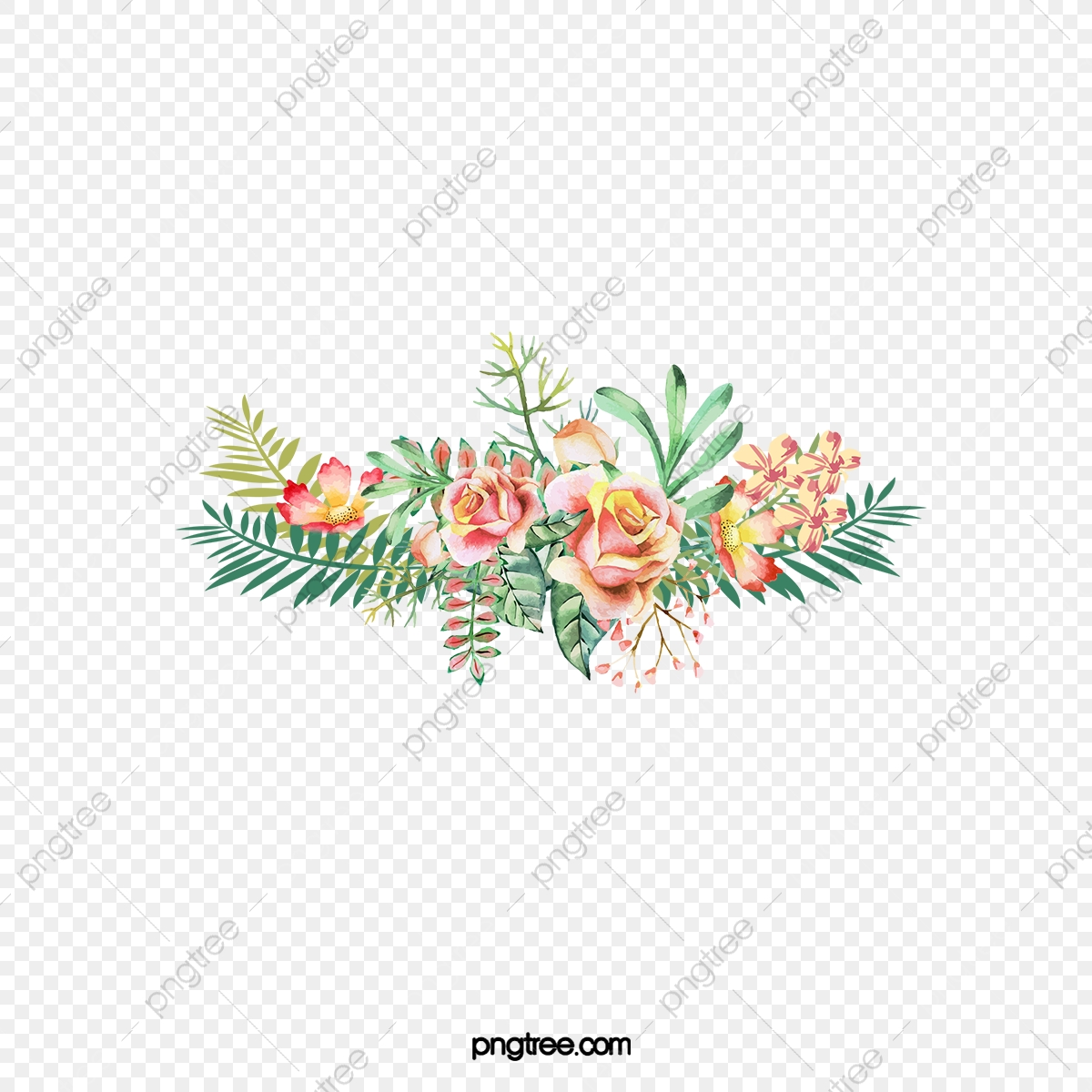 Flower clipart logo. Watercolor bouquet of flowers