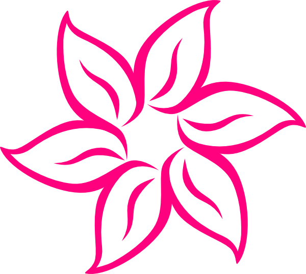 Flower clipart logo. Pink clip art at