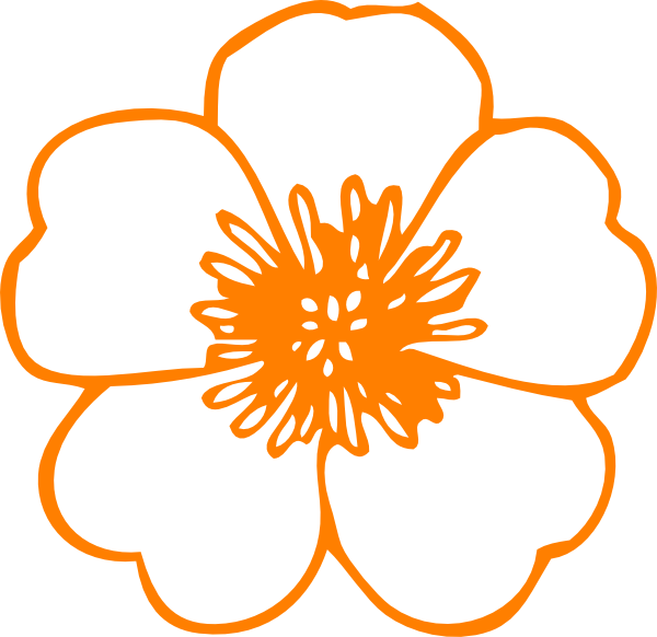 Flower clipart orange banner stock Orange Flower Clip Art at Clker.com - vector clip art online ... banner stock