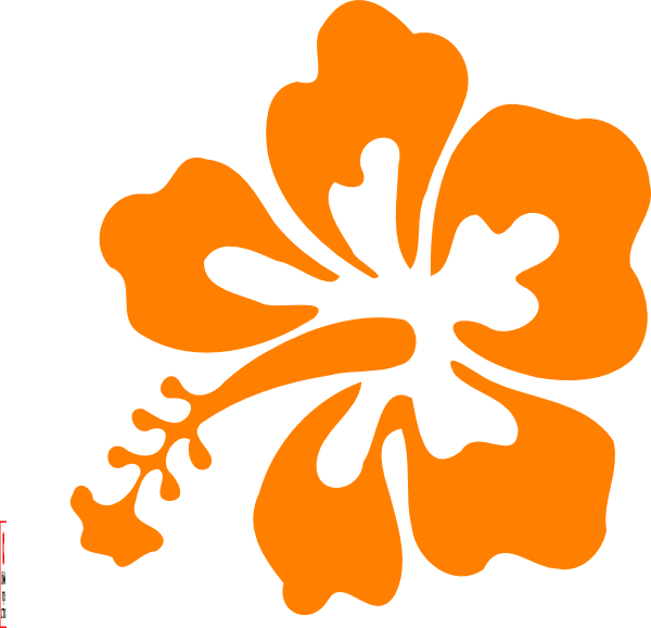 Hawiian flower clipart vector freeuse download Orange Hawaiian Flower Clipart | jokingart.com Hawaiian Flower Clipart vector freeuse download
