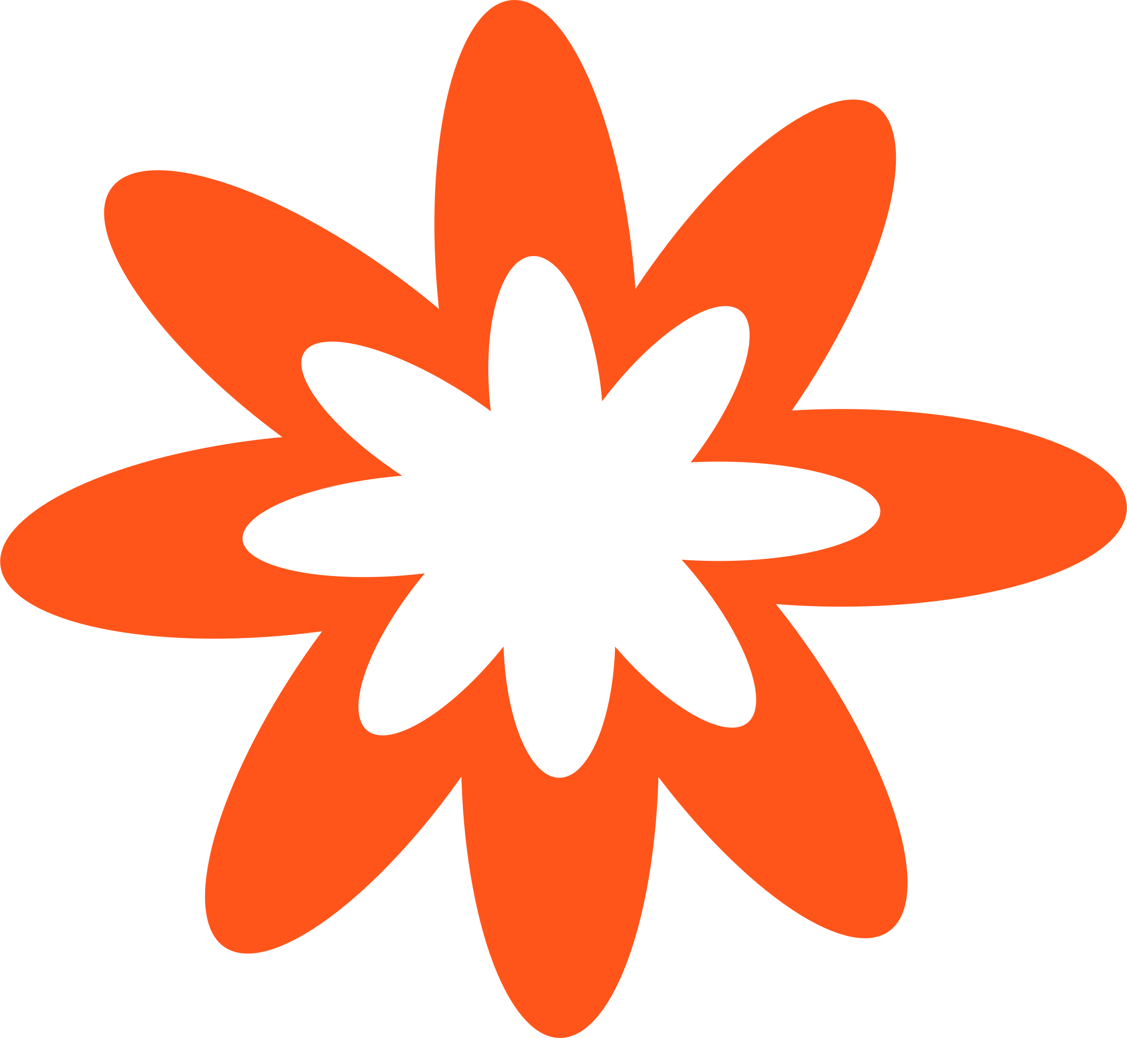 Flower clipart orange clipart freeuse library Clipart - Dark Orange Burst Flower clipart freeuse library