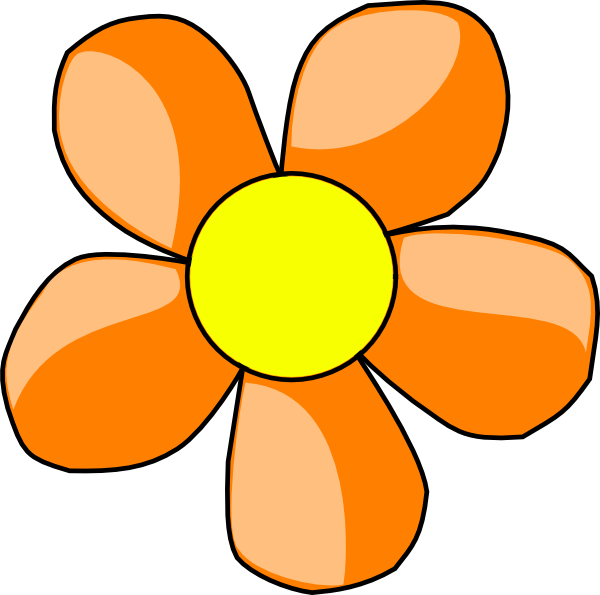 Flower clipart orange clip royalty free Orange Flower Clip Art at Clker.com - vector clip art online ... clip royalty free