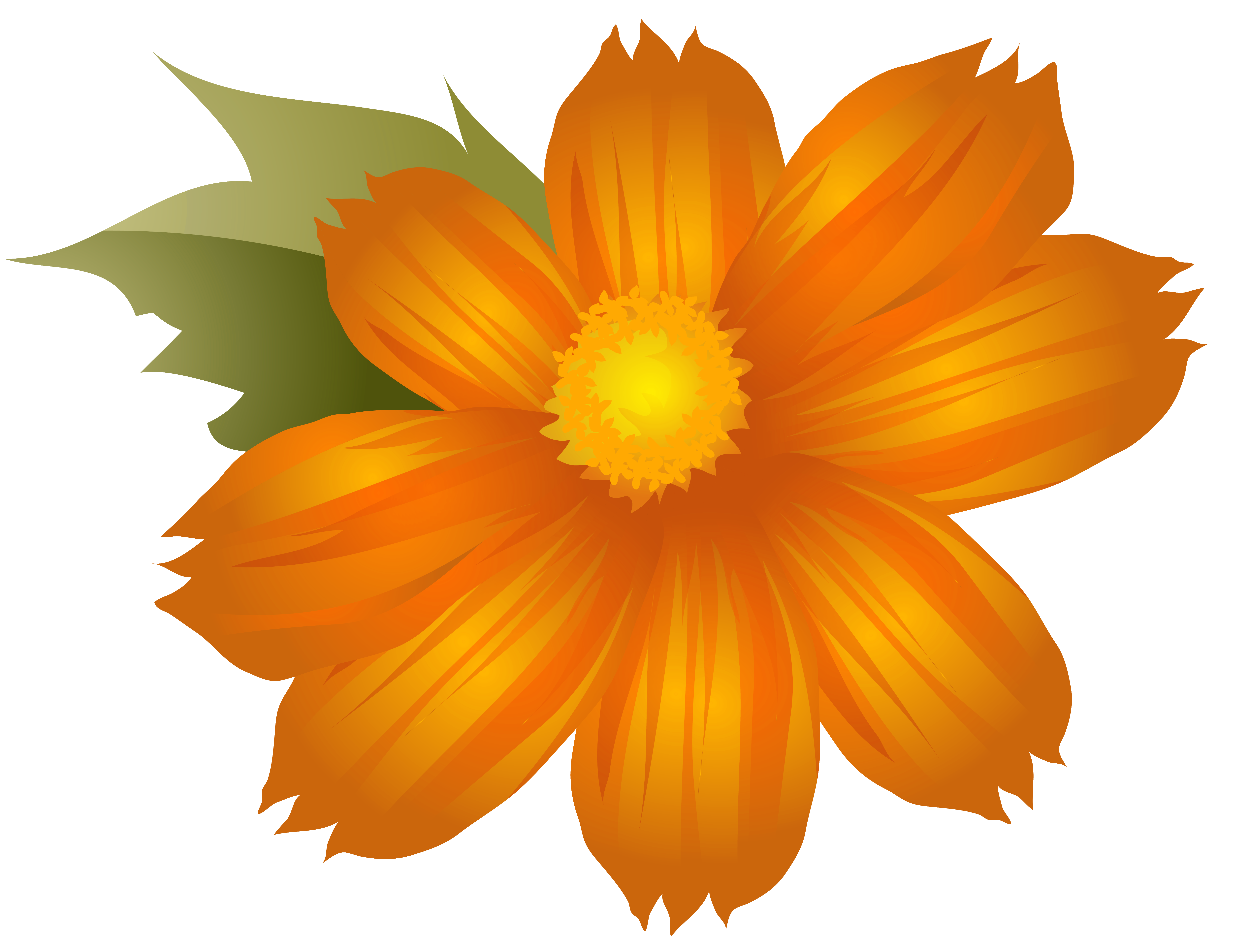 Flower clipart orange clipart library download Orange Flower PNG Clip-Art Image | Gallery Yopriceville - High ... clipart library download