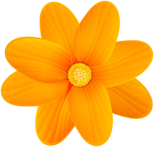 Flower clipart orange jpg royalty free stock Orange Flower PNG Clip Art Image | Gallery Yopriceville - High ... jpg royalty free stock