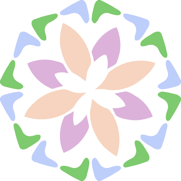 Flower clipart pastel vector library library Pastel Abstract Shape Clip Art at Clker.com - vector clip art online ... vector library library