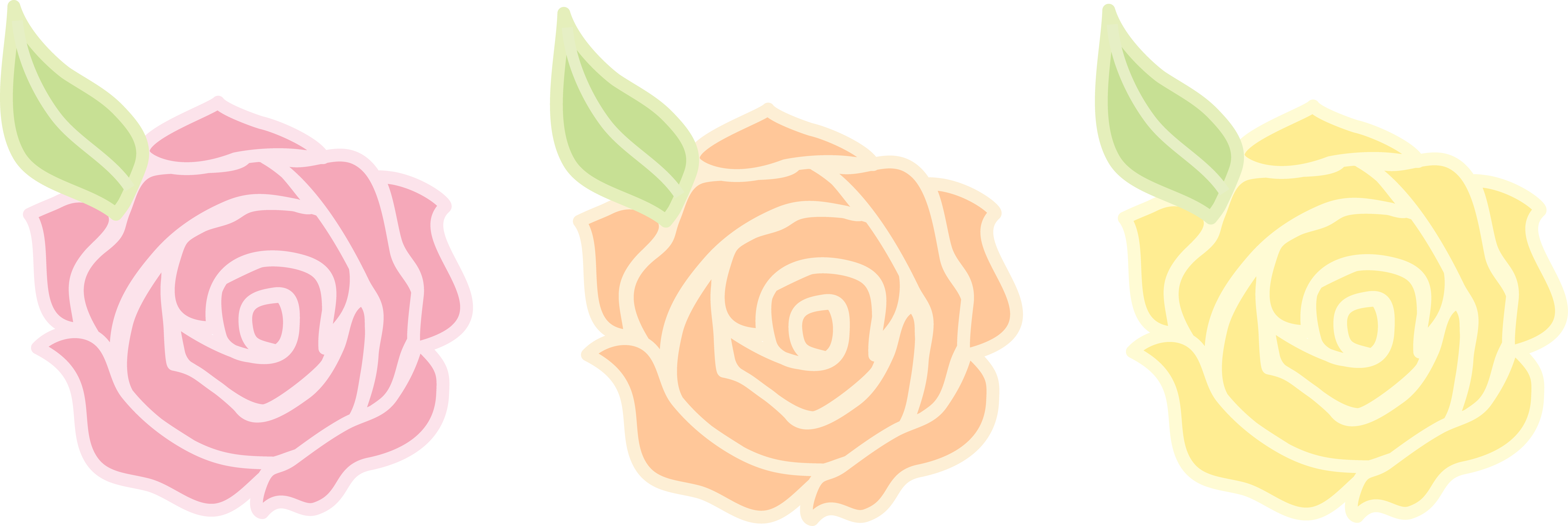 Flower clipart pastel clip art Pink Orange and Yellow Roses - Free Clip Art clip art