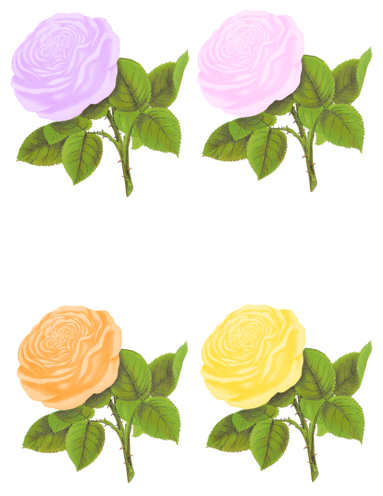 Paper flower clipart clipart transparent library Antique Images: Paper Crafting Rose Digital Collage Sheet Flower ... clipart transparent library