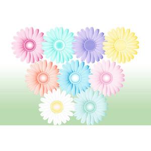 Flower clipart pastel color banner Digital flower clipart Gerbera Daisy Pastel Flower png flowe ... banner