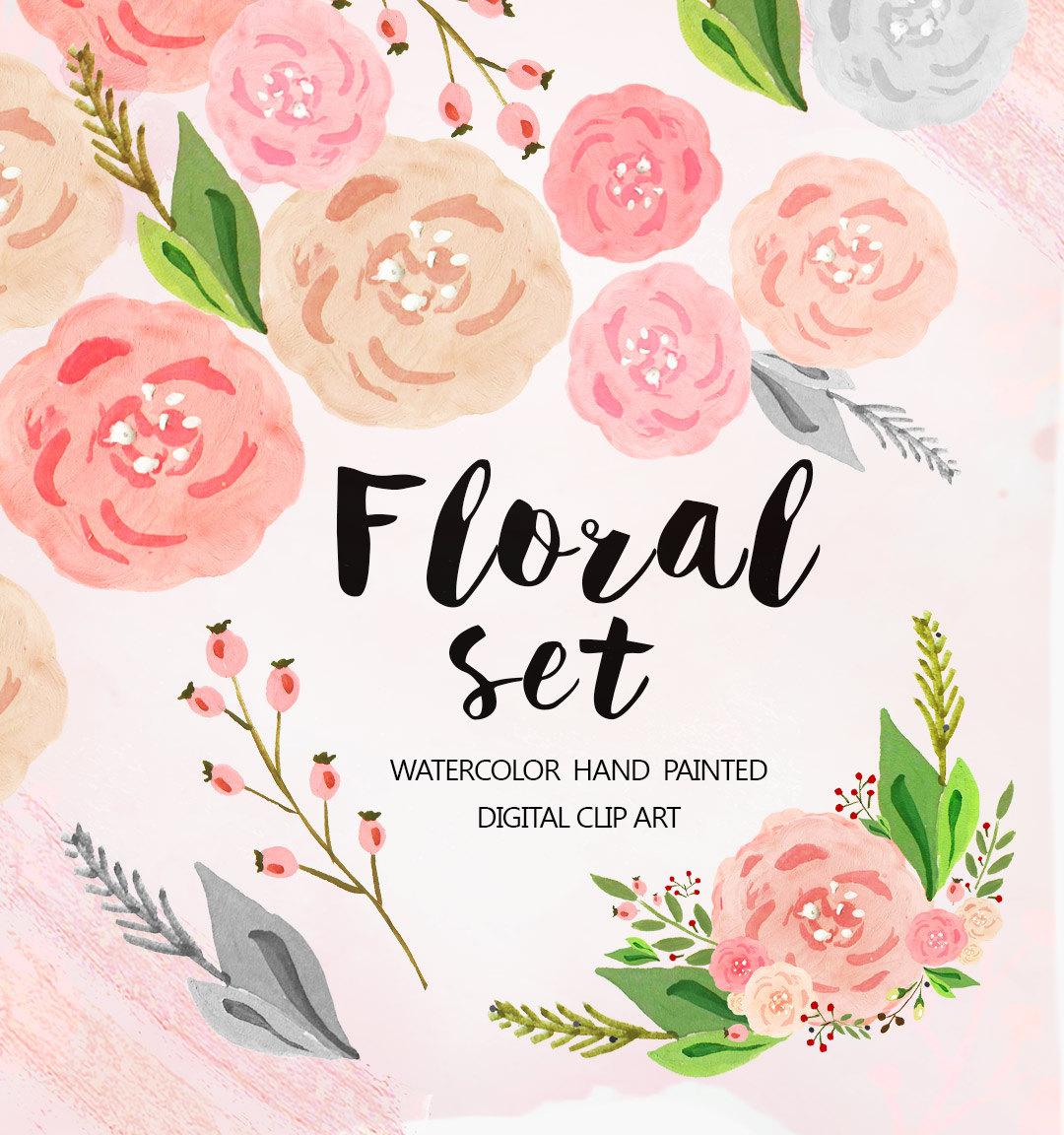 Flower clipart pastel color image transparent Watercolor Flower Clipart Wedding floral Clip art pastel image transparent