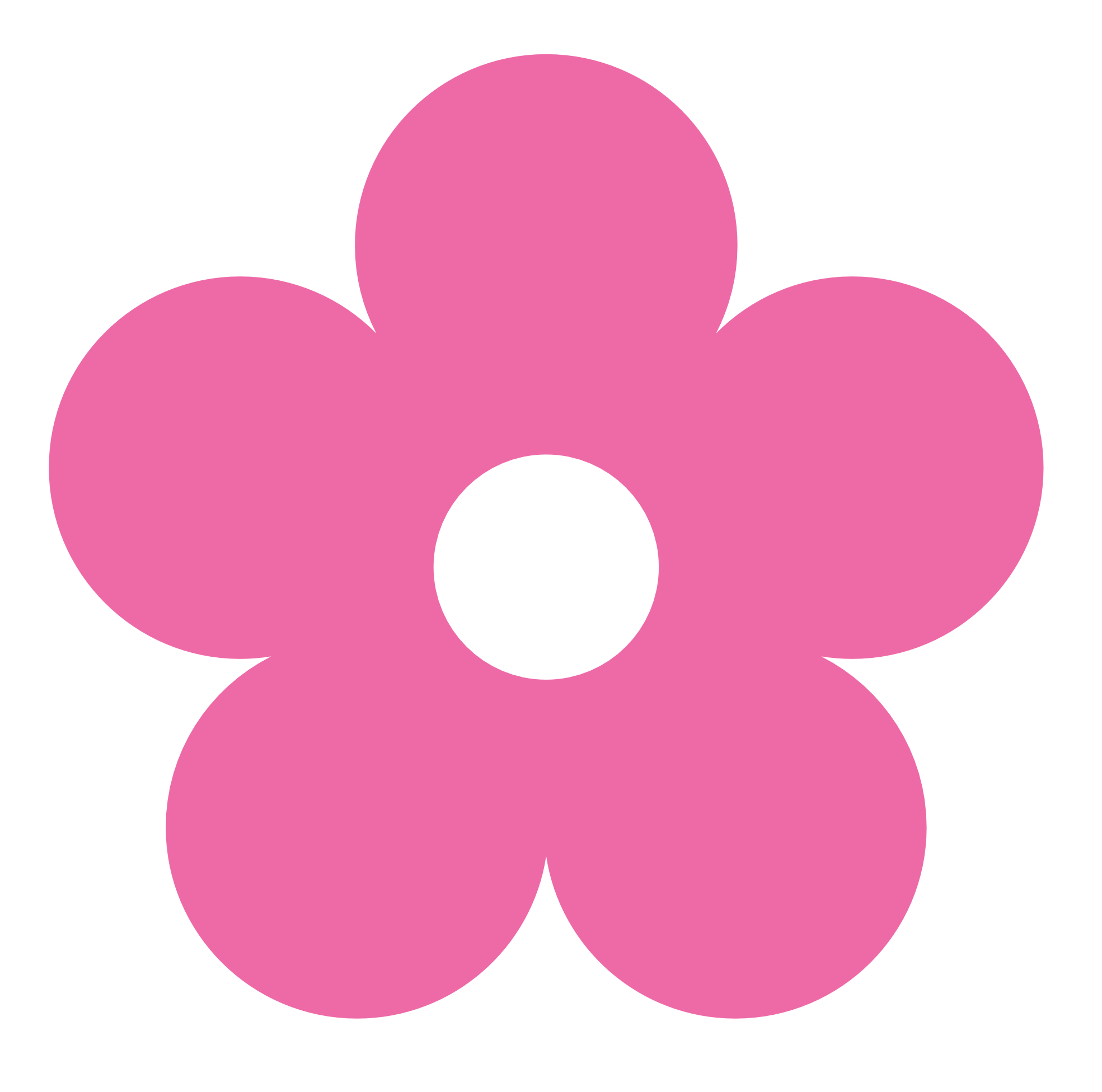 Hot pink flower clipart