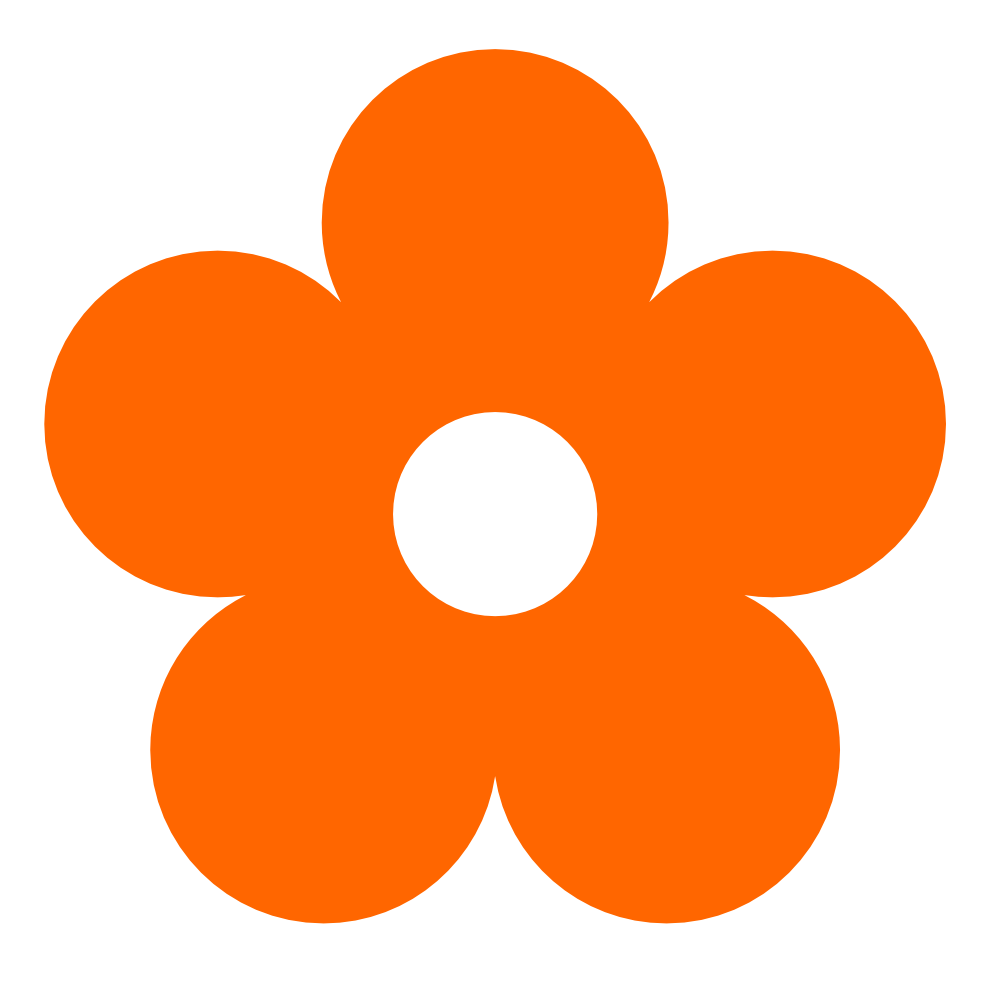 Flower clipart png freeuse stock Original Clipart Orange Flower Clip Art freeuse stock