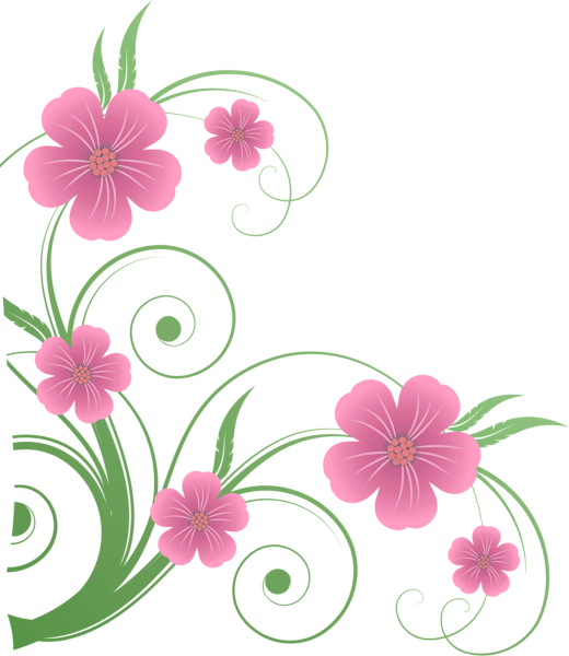 Flower clipart png graphic transparent library Flowers PNG Decorative Element Clipart | Scrapbook nature borders ... graphic transparent library