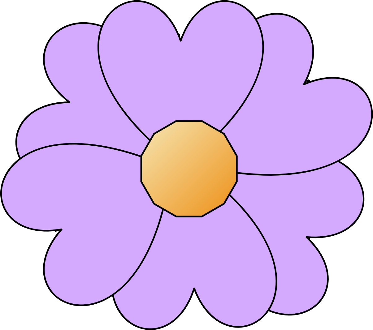Flower clipart simple. Purple big image png