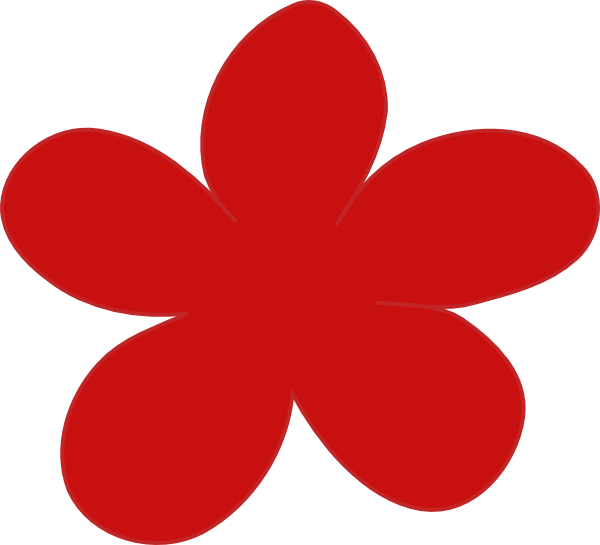 Red flower clipart freeuse library Red Flower Clip Art at Clker.com - vector clip art online, royalty ... freeuse library