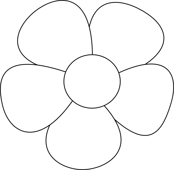 Sewing guide for beginners. Flower clipart simple black and white