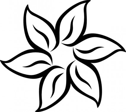Flower clipart simple black and white. Portal