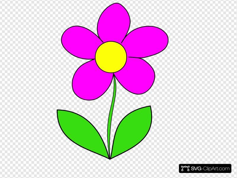 Flower clipart svg jpg library Pink Flower Clip art, Icon and SVG - SVG Clipart jpg library