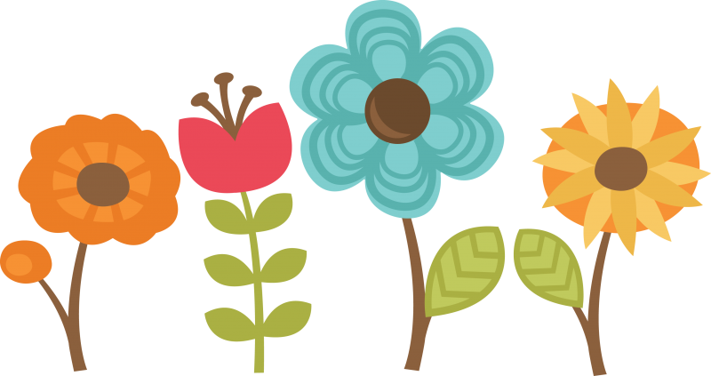 Flower clipart svg clip art library stock Flowers Set Of 4 SVG cut files for scrapbooking flower svg files ... clip art library stock