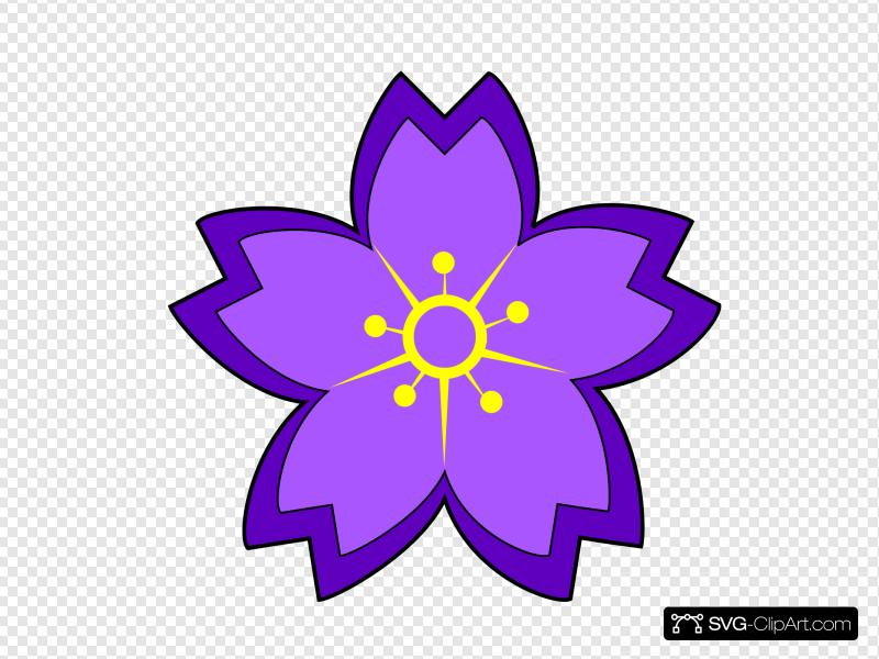 Flower clipart svg clipart royalty free library Purple Flower Clip art, Icon and SVG - SVG Clipart clipart royalty free library