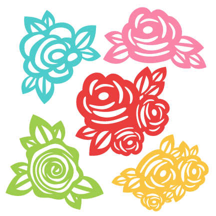 Flower clipart svg clipart black and white download Flowers SVG scrapbook cut file cute clipart files for silhouette ... clipart black and white download