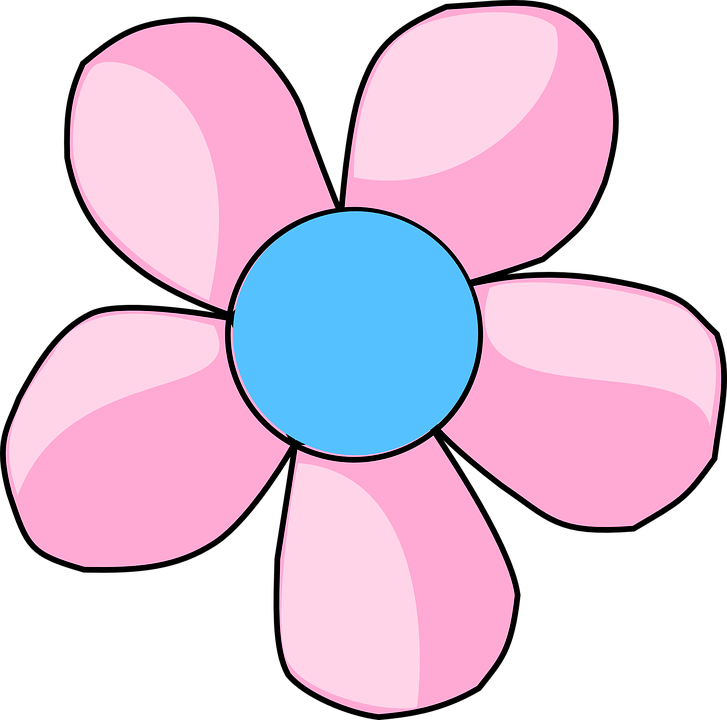 Flower clipart to color vector royalty free download Blue Flower Clipart Flowery vector royalty free download