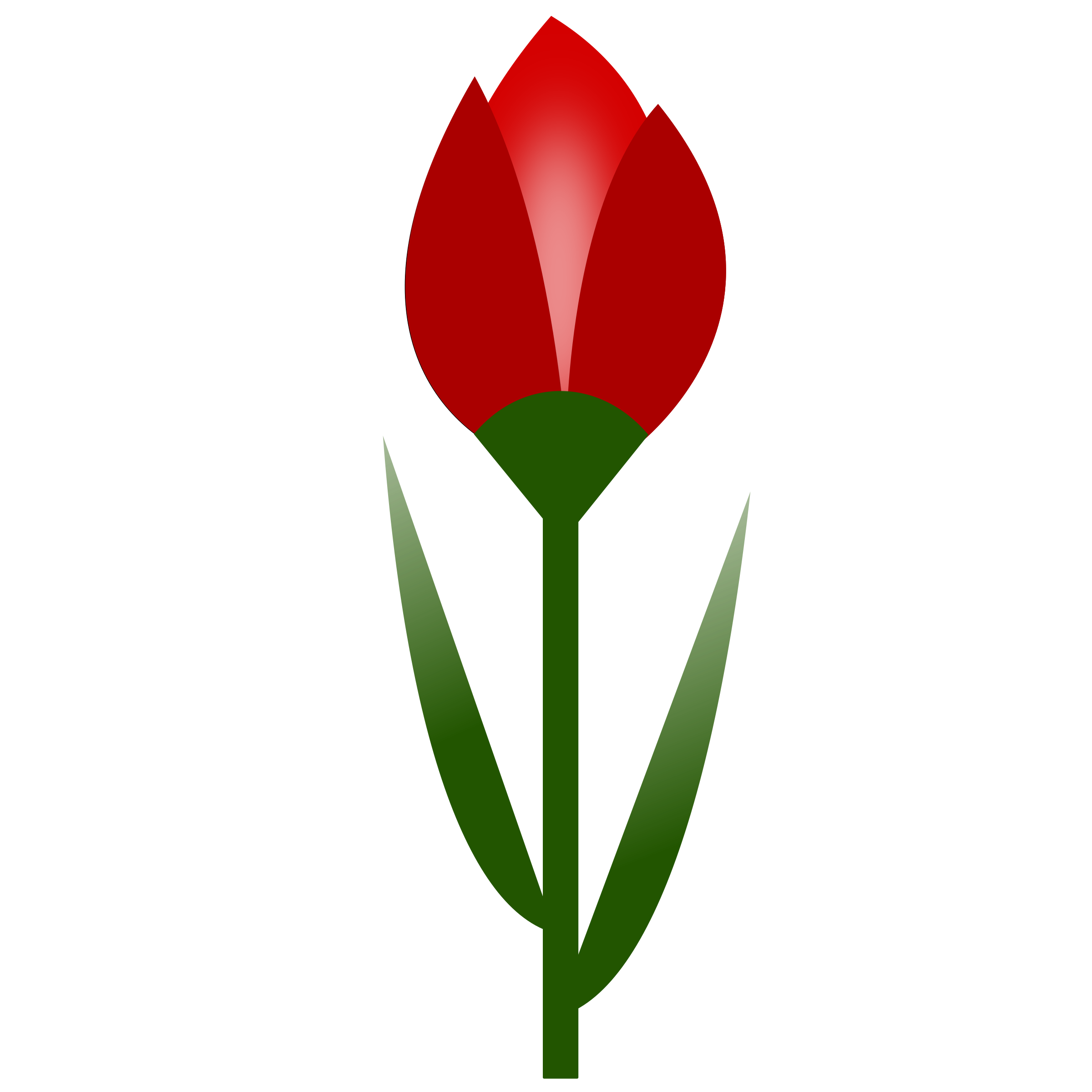 Flower clipart tulip. Simple red color with