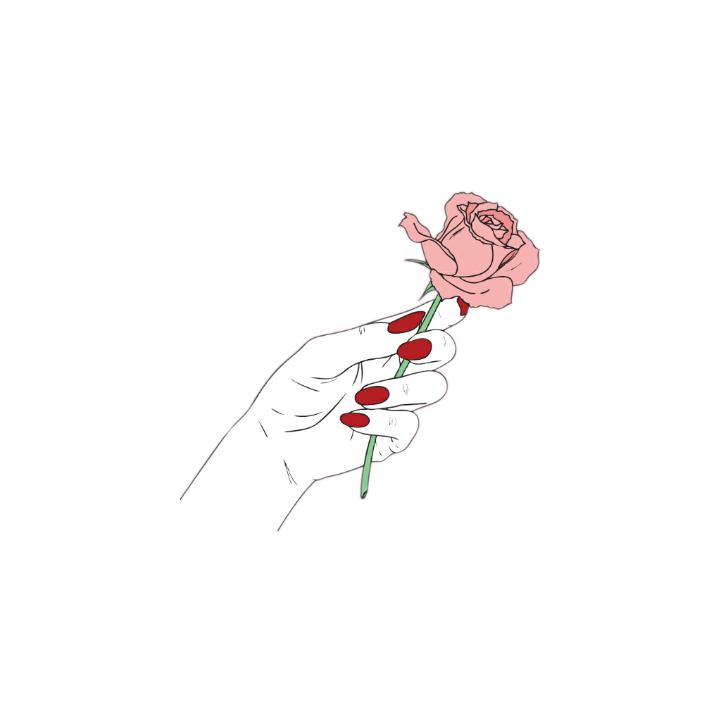 Hands rose sticker by. Flower clipart tumblr