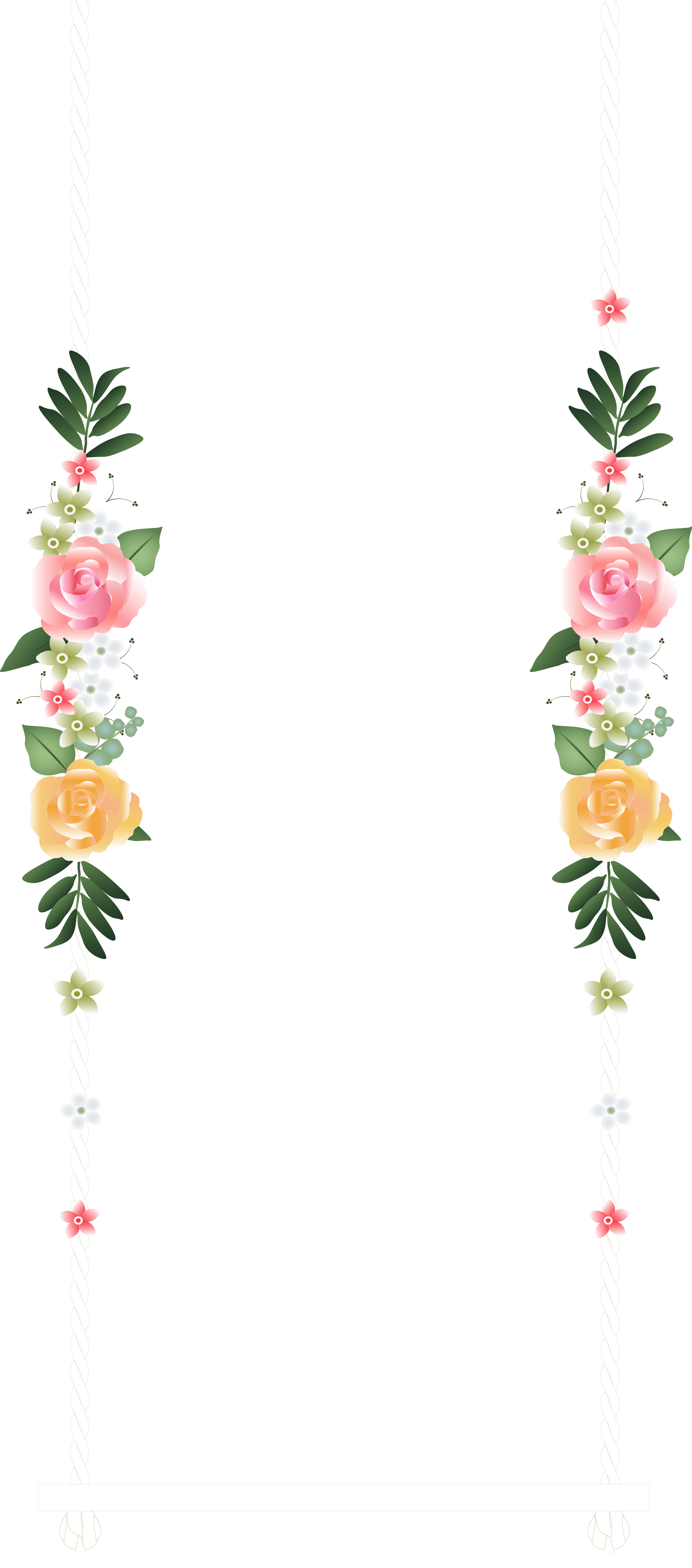 Flower clipart wedding png library Wedding Swing PNG Clip Art - Best WEB Clipart png library