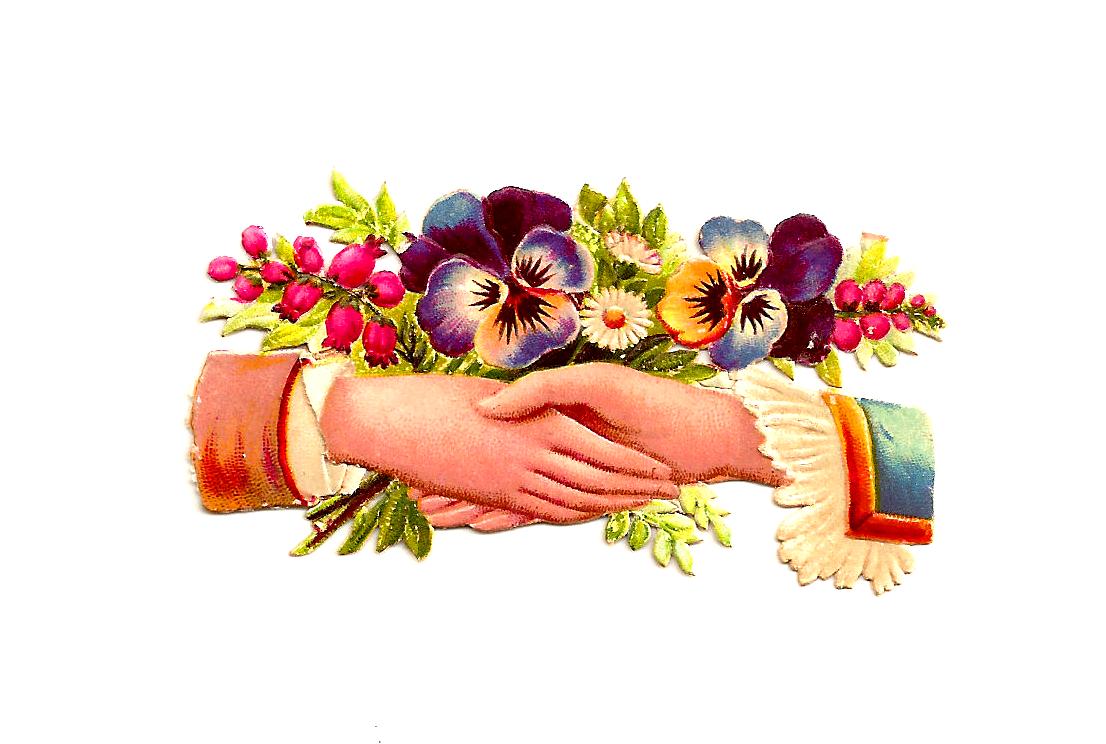 Antique images free clip. Flower clipart wedding