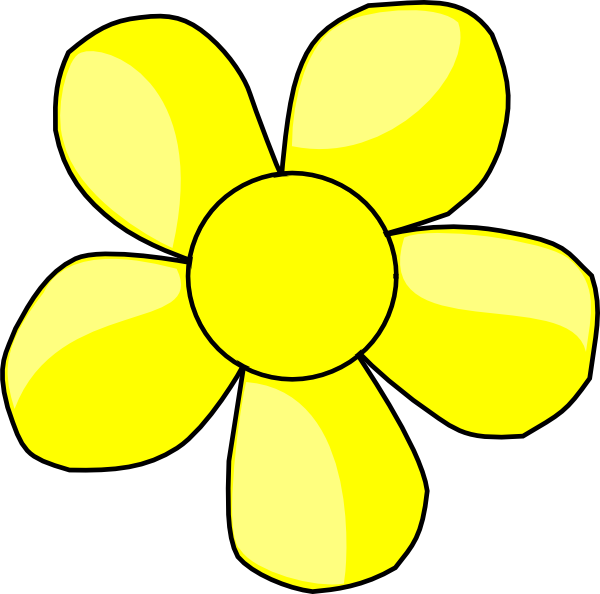 Clip art at clker. Flower clipart yellow