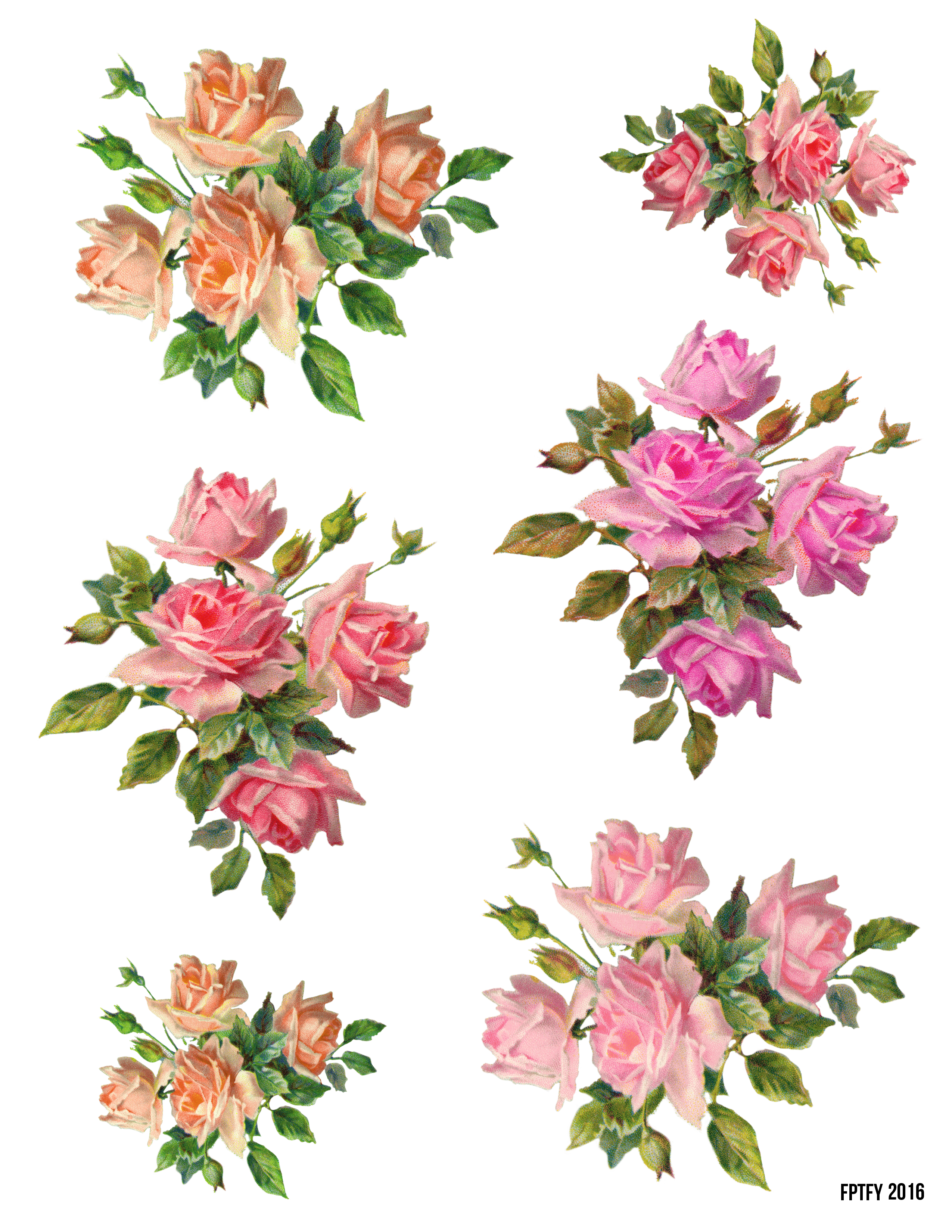 Flower collage clipart graphic royalty free www.freeprettythingsforyou.com wp-content uploads 2016 06 vintage ... graphic royalty free
